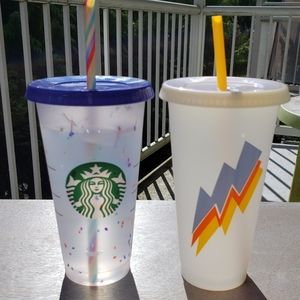 Starbucks Color-Changing Confetti + Lightning Cup